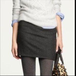 J. Crew Mini Skirt In Felted Gray Size 6